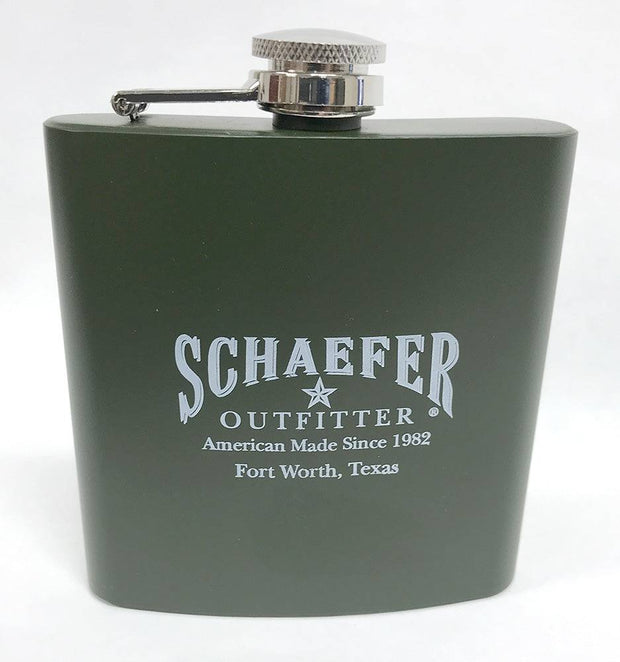 Schaefer Stainless Steel Army Green Flask