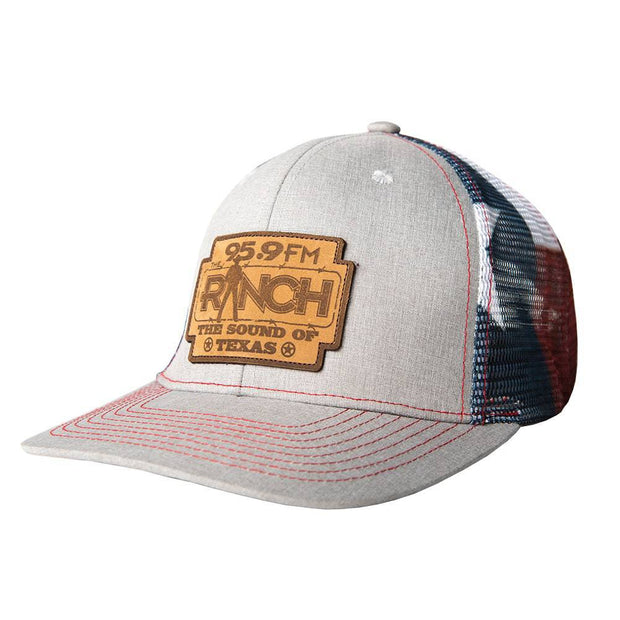 The Ranch 95.9 Texas Deluxe trucker hat, front