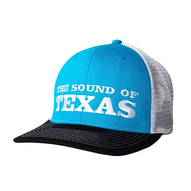 Sound Of Texas Turquoise trucker hat, front