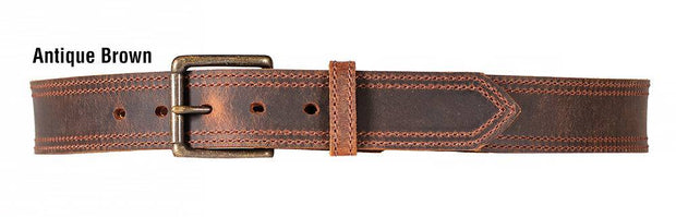 Dakota Distressed Belt in Antique Brown