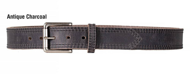Dakota Distressed Belt in Antique Charcoal