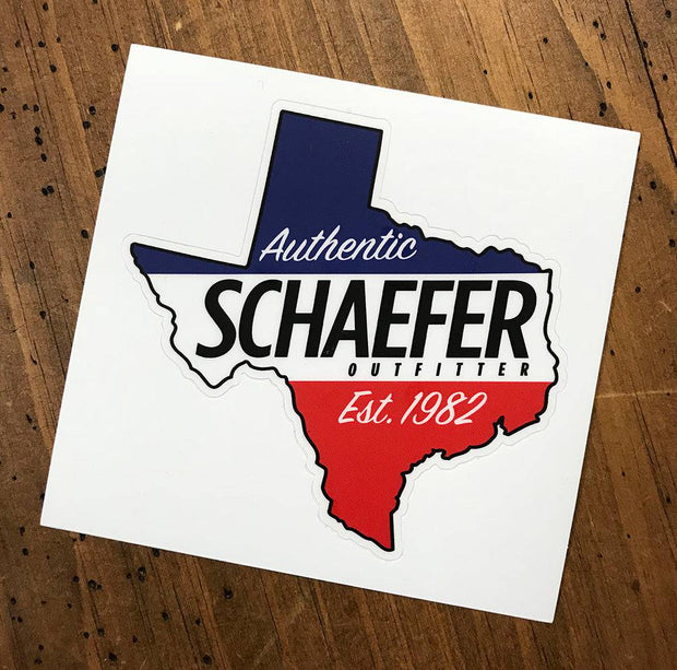 Schaefer Texas Decal