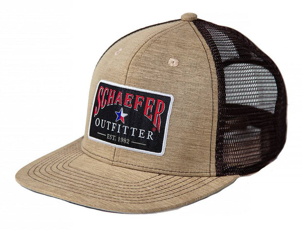 The Official Trucker hat in Heather Khaki, front