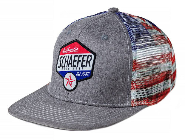 The Texas Star Trucker hat in Gray Heather, front