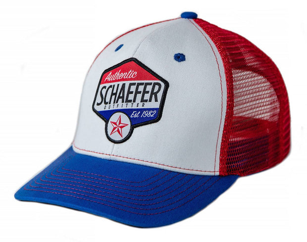 The Texas Star Trucker hat in Tri-Color, front
