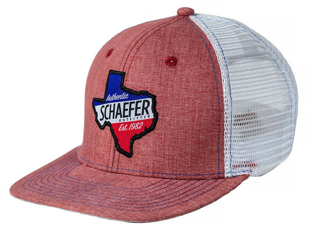 The Texan Trucker hat in Red Heather