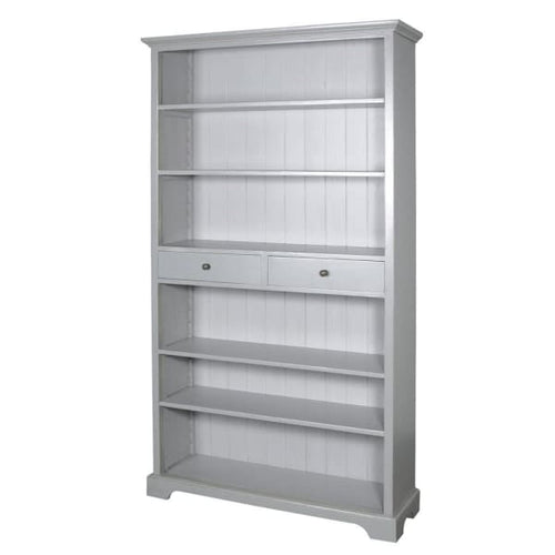 Grey Fayence Bookcase with Drawers