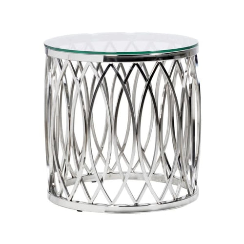 Apri Stainless Steel End Table