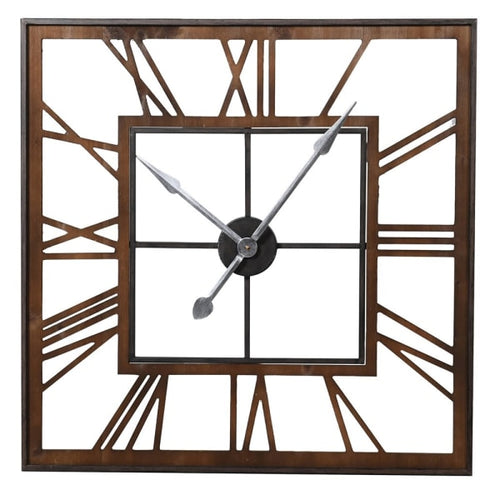 Square Skeleton Wall Clock