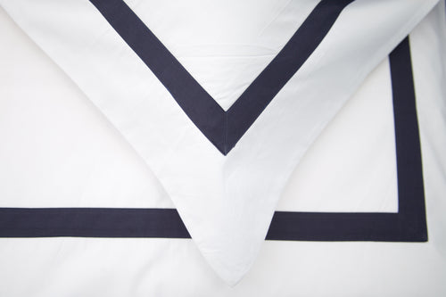 Saville Edge 220 White with Navy Tape