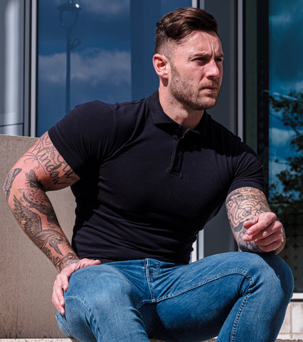 Can Polo Shirts Be Tailored? Tapered Fitted polo shirt