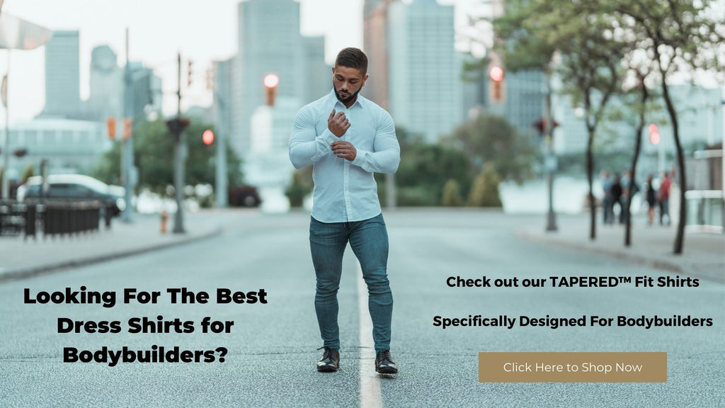 White shirts for bodybuilders by Tapered Menswear