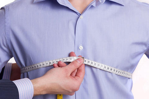 Measuring chest of shirt, blog by tapered menswear outlining cost of tailoring a shirt