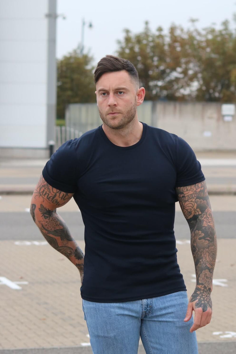 Navy Tapered Fit T-Shirt