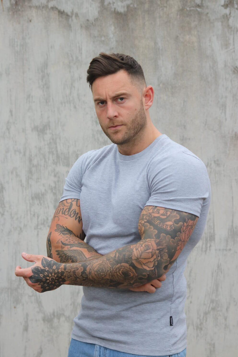 Grey Tapered Fit T-Shirt