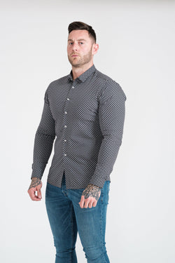 Floral Muscle Fit Shirt. A Proportionally Fitted and Comfortable Muscle Fit Shirt. Ideal for bodybuilders