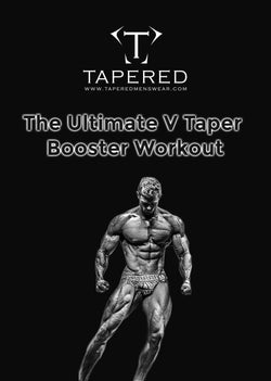 V Taper workout PDF. Ultimate V Taper workout by Tapered Menswear