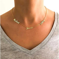 Custom Multiple Names Necklace