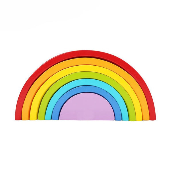 Wooden Block Rainbow Toy