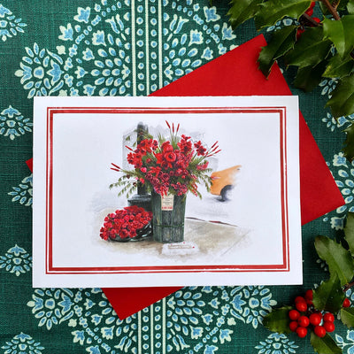 Flower Flash Holiday Note Cards