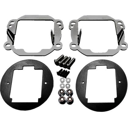 Rigid Industries Jeep JK - Fog Light Kit - Mounts set of Dually/d2
