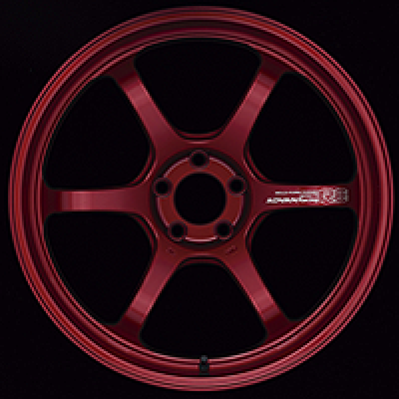 Advan R6 18x9.5 +45 5-114.3 Racing Candy Red Wheel
