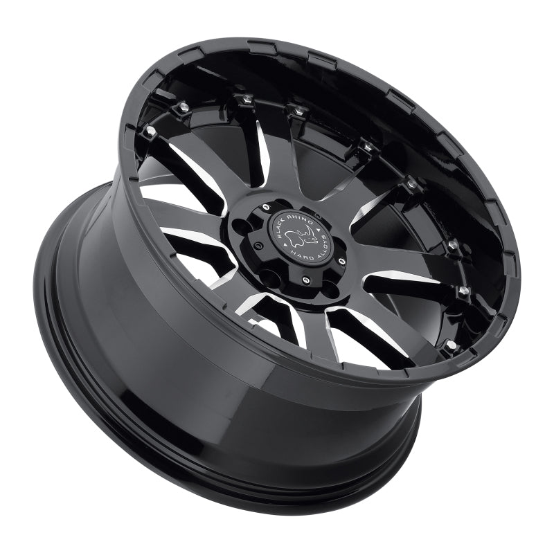 Black Rhino Sierra 18x9.0 5x150 ET12 CB 110.1 Gloss Black w/Milled Spokes Wheel