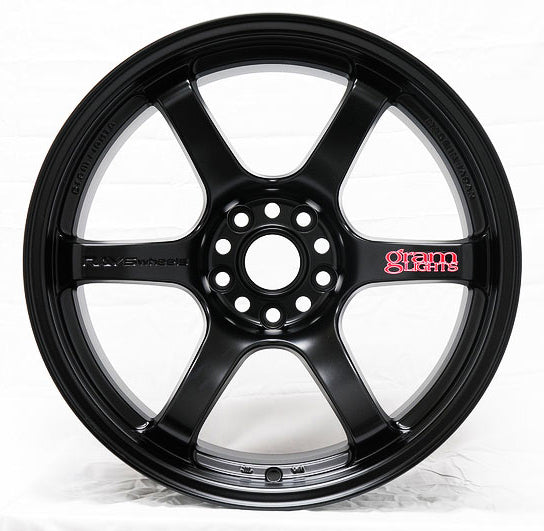 Gram Lights 57DR Wheel - 18x8.5 / Offset +37 / 5x100 (Semigloss Black)