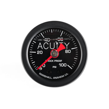 ACUiTY 100 PSI Fuel Pressure Gauge in Various Finishes