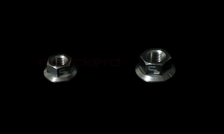 CheckerD Sports Titanium Flanged Nuts