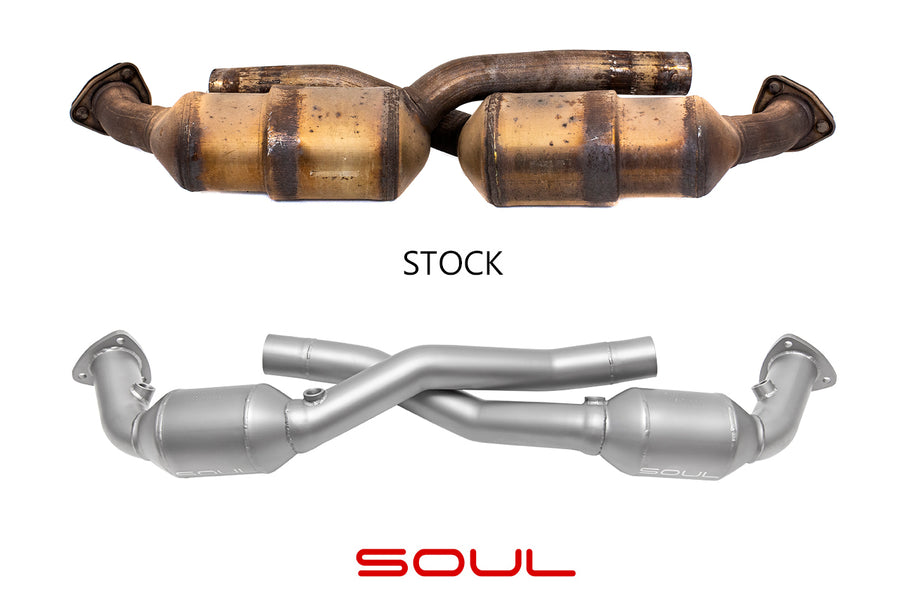 Soul Performance Porsche 997.1 Carrera Sport Catalytic Converters