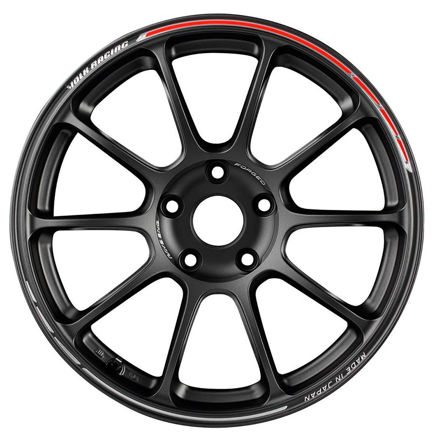 Volk Racing ZE40 Time Attack II Wheel (Face-1) - 19x8.5 / Offset +37 / 5x114.3 (Matte Gunblack / REDOT)