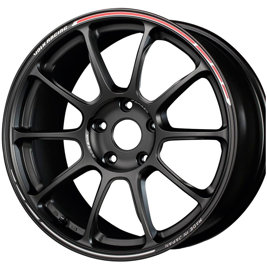 Volk Racing ZE40 Time Attack II Wheel (Face-4) - 18x12.0 / Offset +19 / 5x114.3 (Matte Gunblack / REDOT)