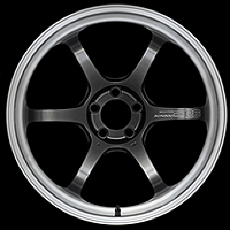 Advan R6 18x9.5 +05 5-114.3 Machining & Racing Hyper Black Wheel