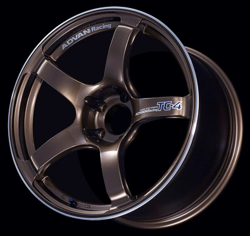 Advan TC4 17x7.0 +42 4-100 Umber Bronze Metallic & Ring Wheel