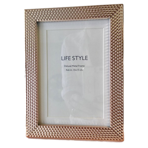 Photo Frame - Soft Rose Gold Dot 4x6