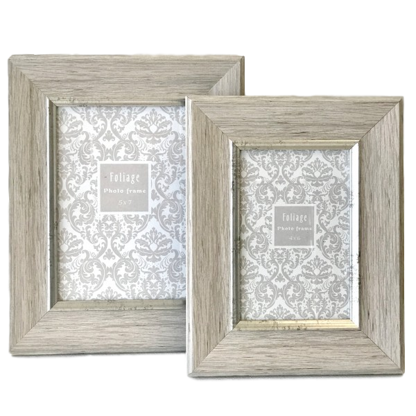 Photo Frame - Timber and Silver Trim 4x6