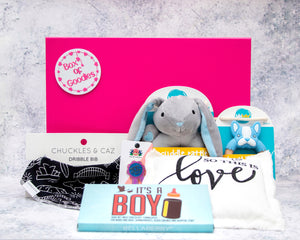 Box Of Blue Baby Goodies