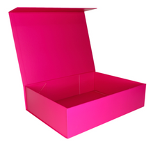 Load image into Gallery viewer, Open image Pink Keepsake Box for small or large gift boxes, Melbourne.