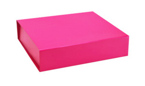 Closed image pink Keepsake Box for small or large gift boxes, Melbourne.