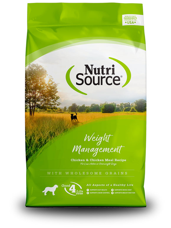 NutriSource Weight Management Chicken & Chicken Meal Recipe