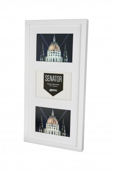 (PRE-ORDER) White Solid Wood 3-Aperture Frame + Photographic Prints