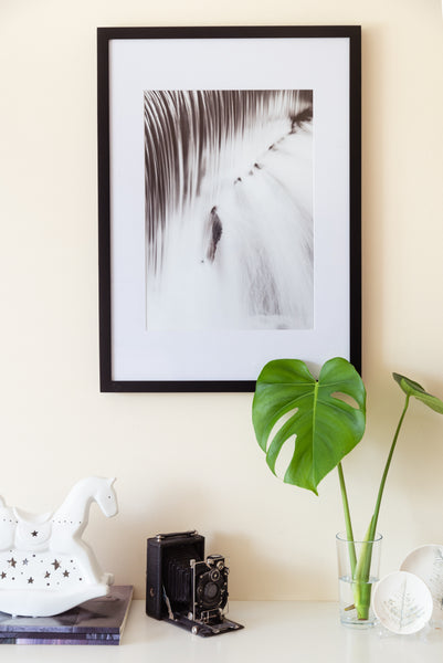 Large Black Solid Wood Frame + Photographic Print