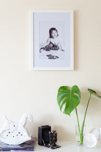 (PRE-ORDER) Large White Solid Wood Frame + Photographic Print