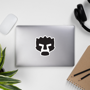 Angry Face Vinyl Sticker