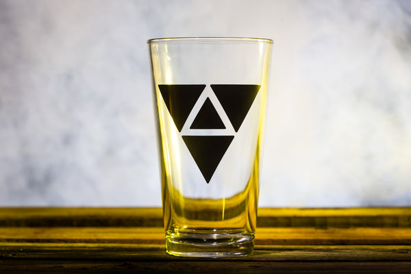 """Triangles"" Pint Glass"