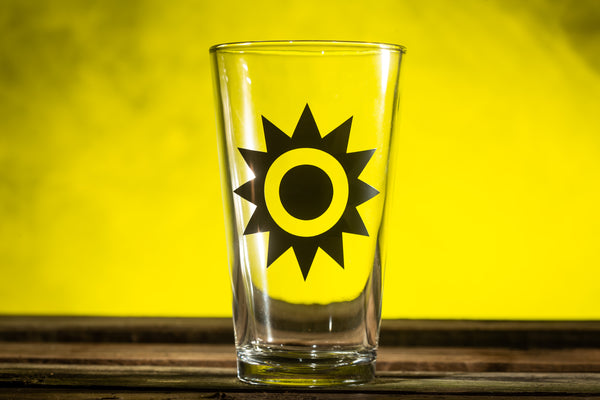"""Sun"" Pint Glass"