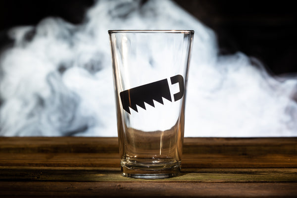"""Saw"" Pint Glass"