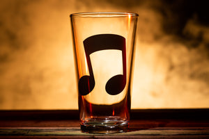 """Music Note"" Pint Glass"