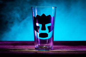"""Angry Face"" Pint Glass"